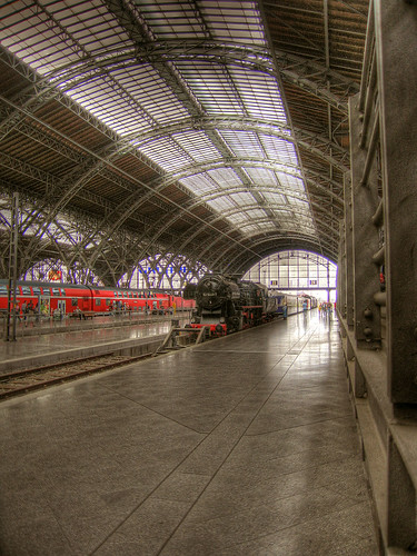HDR: Central Station in Leipzig by Dirk Paessler