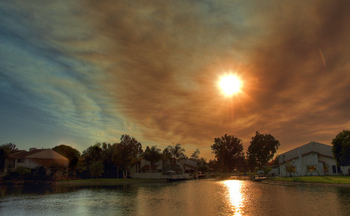 Smoky sunset (Day fire, day 13) | by KaroliK