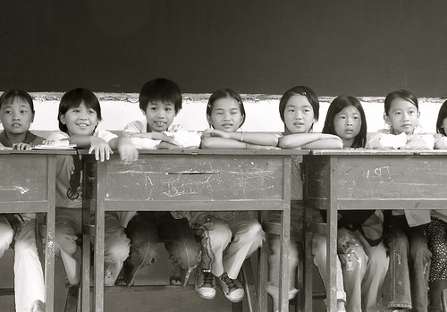 Kids in the classroom by chrissuderman