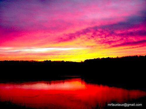 trees red reflection water yellow sunrise coast shadows purple shoreline rhodeisland shore narragansettbay eastgreenwich greenwichcove eastgreenwichcove
