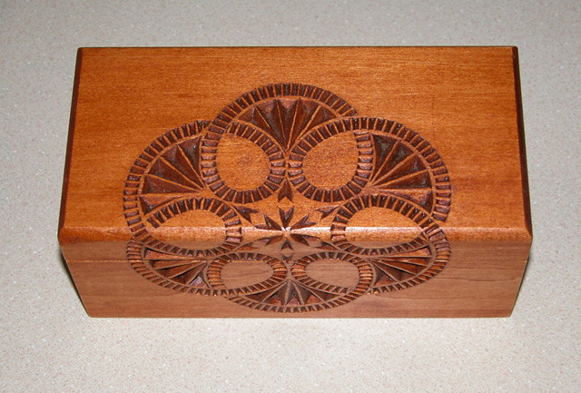 Hand carved chip carving basswood box i carved this pattu2026 flickr