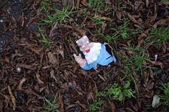 broken garden gnome
