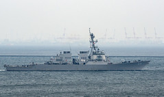USS Curtis Wilbur (DDG 54) departs U.S. Fleet Activities Yokosuka, May 17, en route to Shimoda. (U.S. Navy/Garrett Zopfi)