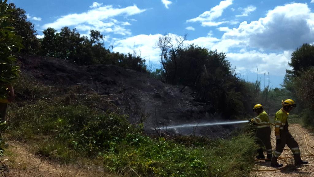 Incendi al barranc d'Escuriet en 2018