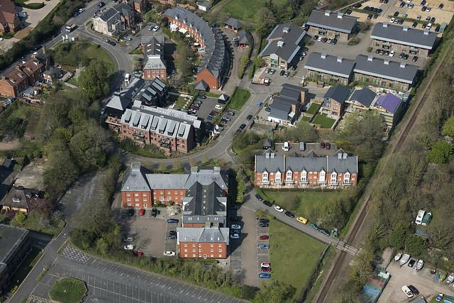 Woodbridge in Suffolk - aerial image