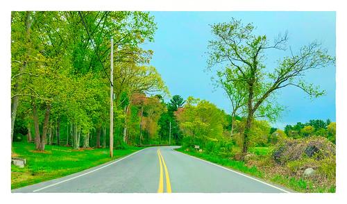 2018 landscapeincludingaroad large 0518 fromthecar 52weeks springtime 169 eastbridgewater massachusetts unitedstates us
