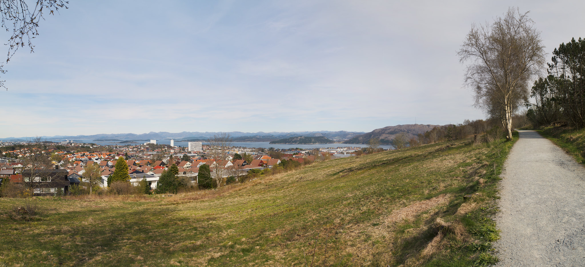 View from Sørmarka Rogaland Norway