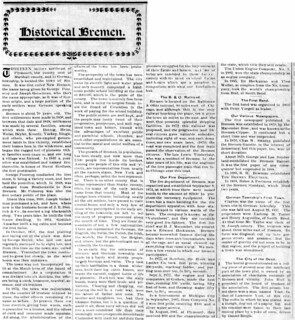 1907 - history of the town - Enquirer - 19 Dec 1907   by historic.bremen