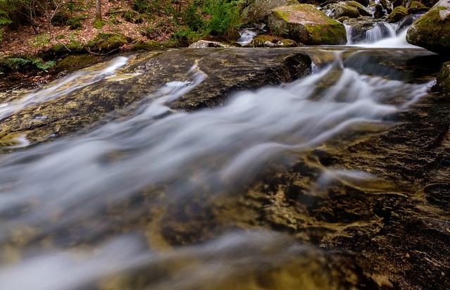 spring runoff, bumpus brook, new hampshire