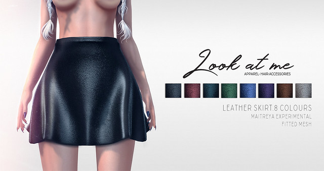 Look At Me. Leather Skirt