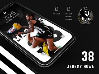 #38 Jeremy Howe (Collingwood Magpies) iPhone Wallpapers | by Rob Masefield (masey.co)