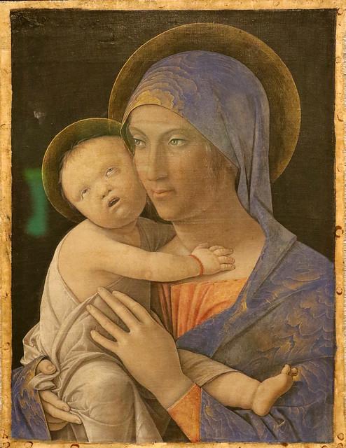 Andrea Mantegna (1431 - 1506) - Madonna col Bambino (1475 circa) - Accademia di Carrara Bergamo