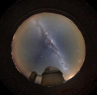 Milky Way over the ESO 3.6m telescope