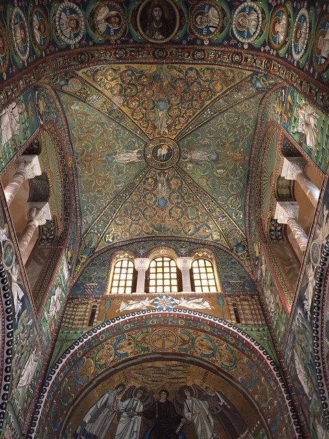 Ceiling in the Basilica of San Vitale in Ravenna, Italy.