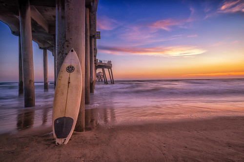 sunset surfcity beach clouds ocean water landscape pier sand sky longexposure dusk surfboard surf sea oc orangecounty socal california cali ca seascape explore color light huntingtonbeach usa surfcityusa spring bluehour seaside pacific