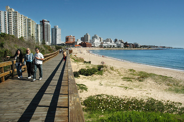 Playa Mansa boardwalk