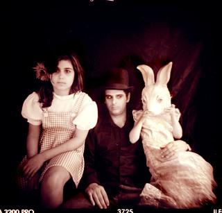 not sure I trust that rabbit..   by Laura Burlton - www.lauraburlton.com