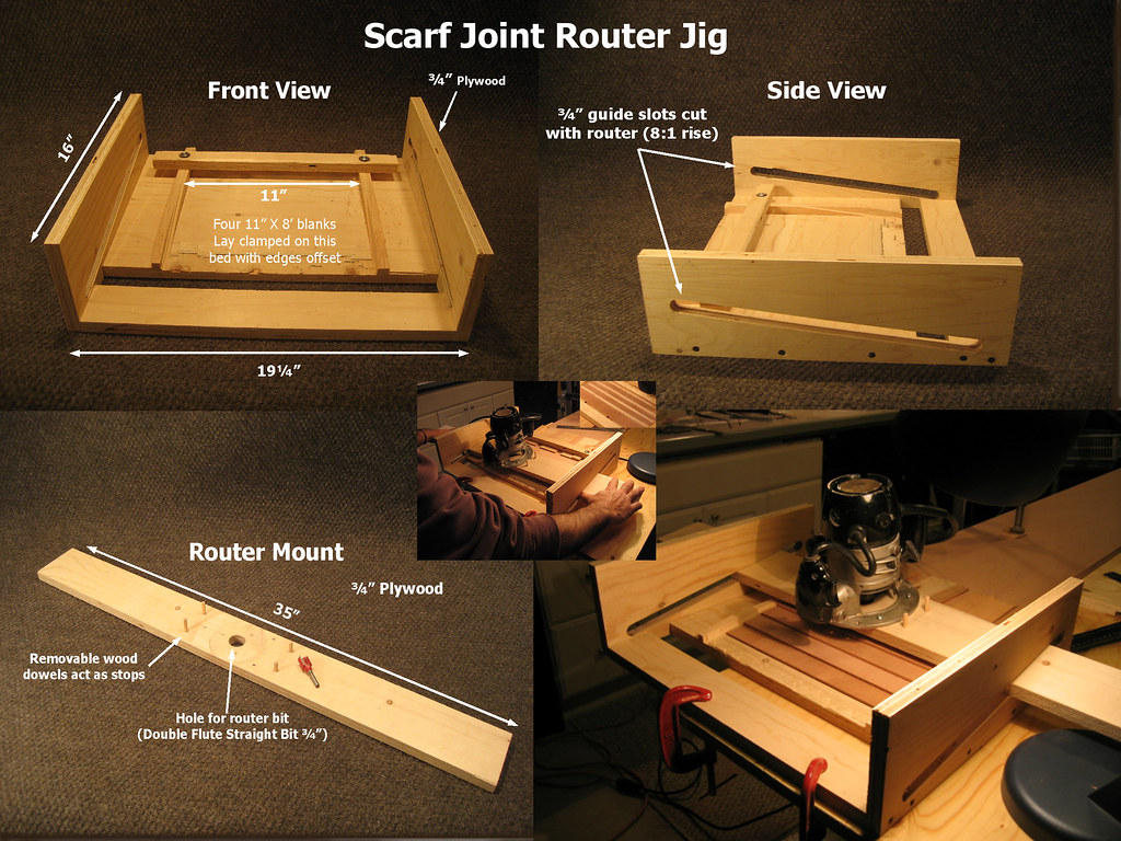 Scarf Joint Router Jig How To Scarf The Ends To Make 16 P Flickr