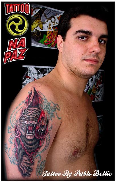 Tatuagem De Tigre O Efeito Que Quiz Dar é De Que Uma Tatua