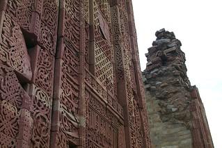 Inscribed detail, Qutb Minar, Delhi, India